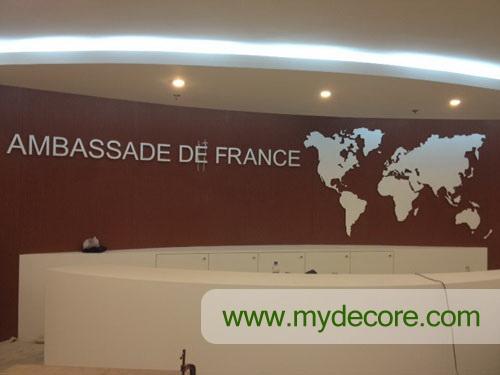 ผลงานที่ สถานฑูตฝรั่งเศส โดยร้านผ้าม่านเอ็มวายด์เดคอร์