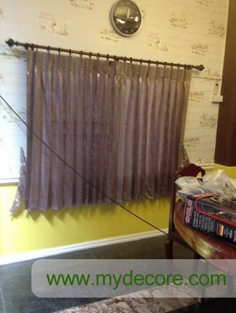 ผลงานการติดตั้งผ้าม่าน บ้านคุณหมออาร์ม