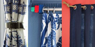 10 ไอเดียวิธีที่สร้างสรรค์ ตกแต่งผ้าม่าน ด้วยของใช้ในบ้าน