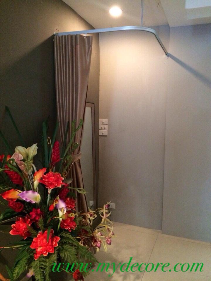 ผลงานผ้าม่าน ม่านแบบรางโรงพยาบาล ร้านสปา สุขุมวิท 39