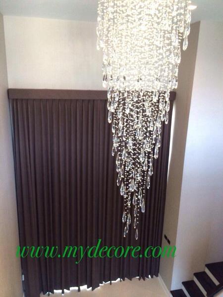 ผ้าม่านกันยูวี ผ้าโปร่งสีขาว สูง 4 เมตร