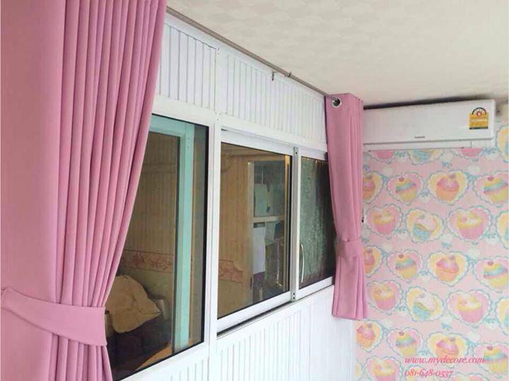 ติดตั้งผ้าม่านห้องนอน ผ้าม่านสีชมพู ต้อนรับสมาชิกใหม่บ้านคุณแพร