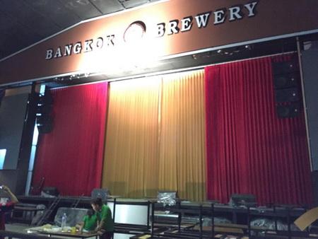 ผลงานม่านไฟฟ้าโรงเบียร์กรุงเทพ