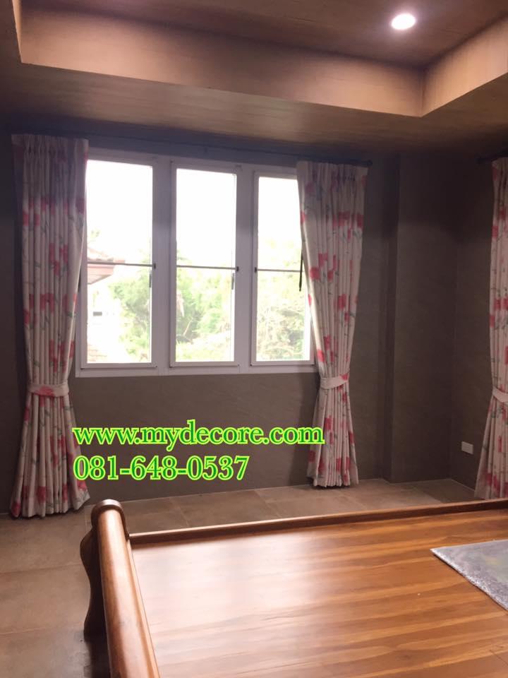 ผลงานผ้าม่านกันยูวีลายดอกสวยงาม เข้ากับบ้านสีสัน สวย สะดุดตา