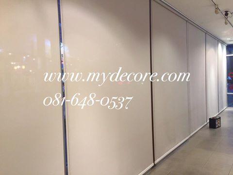ผลงานติดตั้งม่านม้วนชนิดกรองแสง ร้านม่าน m.y.decore : ร้านม่าน