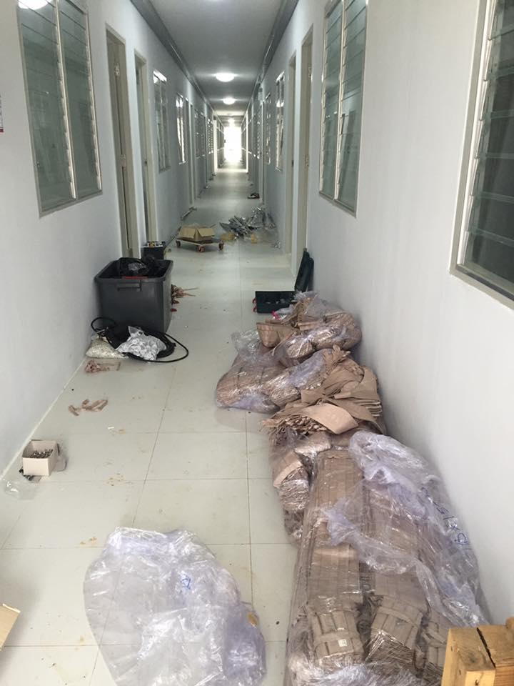ผ้าม่านบ้านพักพนักงาน โรงงานน้ำตาลราชบุรี 2 จ.กาญจนบุรี